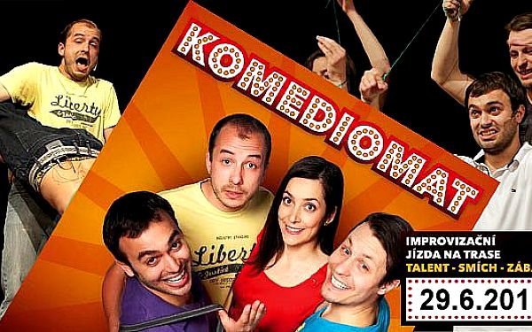 """75 Kč za vstupenku na improvizační show """"KOMEDIOMAT"""". Přijďte se zasmát s tak trochu jinou """"PARTIČKOU"""" v pátek 29.6.2012."""