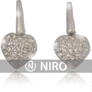 Náušnice s kameny SWAROVSKI, rozměr 12 mm ve tvaru srdce + 25% sleva na nákup zboží v e-shopu NIRO.cz