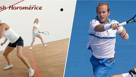 Jen 99 Kč za hodinu squashe nebo tenisu a k tomu 2x iontový nápoj!