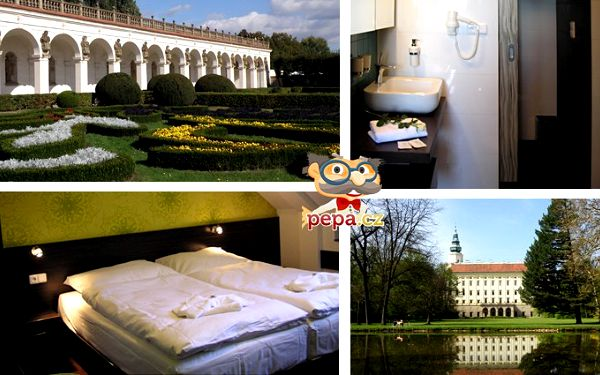 4denní pobyt pro dva u Kroměříže s polopenzí, degustací, plavbou i prohlídkou zámku.