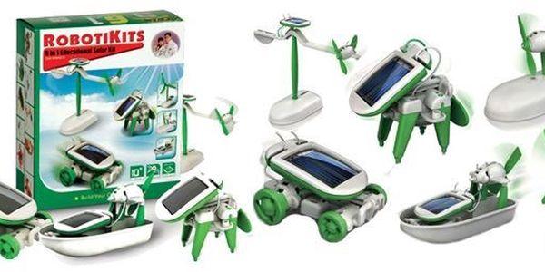 129 kč za Solární stavebnici 6v1. Poznejte i vy, jak jednoduché je získání elektřiny pro provoz jednoduchých strojů pomocí solárních panelů a sestavte si vlastní solární hračku. Výborná rodinná zábava pro otce i děti!