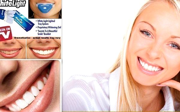Bělící prostředek na zuby White Light za 89 Kč. Vybělte si zuby v pohodlí Vašeho domova