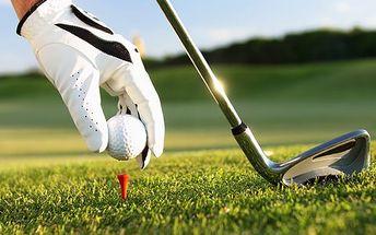 6hodinový kurz golfu! Profesionální trenér, závěrečné zkoušky, osvědčení pro hraní. Nejnovější hřiště.