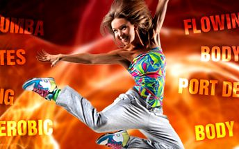 CVIČENÍ DLE VAŠEHO VÝBĚRU, dvě 55 minutové lekce za výhodných 80 Kč!! Zumba, Pilates, Jumping, Dance aerobic, Flowin, Body styling, Port de bras, nebo Body balance se slevou 50%!!