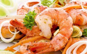 30 ks tygřích krevet jen za 249 Kč! Vychutnejte si krevety ve známém Original Cappuccini Restaurantu!