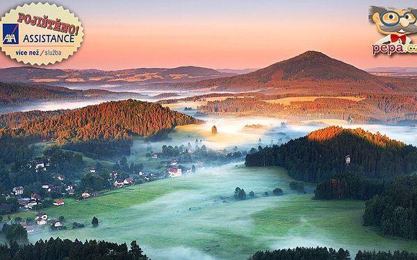 3denní pobyt pro 2 osoby se snídaněmi v Českém Švýcarsku.