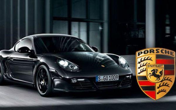Senzačních 4799 Kč za adrenalinovou jízdu v luxusním autě PORSCHE CAYMAN po 24 hodin! Splň si sen a projeď se v káře s masivním motorem s 67% slevou!