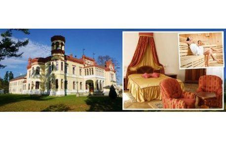 Staňte se zámeckou paní a pánem s 58% slevou: Romantické ubytování pro 2 osoby na zámku v západních Čechách s NEO...