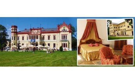 Romantické ubytování pro 2 osoby na zámku! 53% sleva na 3denní pobyt na Zámku Mostov v západních Čechách s večeř