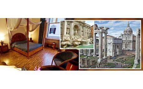 Užijte si ve dvou romantický výlet do Říma! Pokochejte se Koloseem či Vatikánem a ubytujte se na 3 dny v luxusním 4* ...