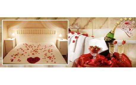 3 denní romantický pobyt pro 2 osoby se snídaní, lahví sektu, ovocným talířem, rudou růží pro dámu a wellness, v ...