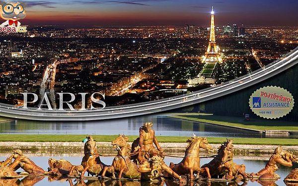 Pětidenní poznávací zájezd do Paříže s ubytováním, snídaněmi a dopravou.