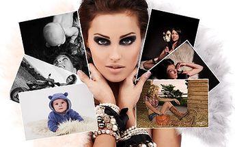 Zhotovení fotografií v atelieru! Hodina focení, 7ks upravených fotografií a další fotky na CD!