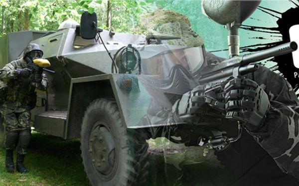 Scénářová paintballová hra s vojenskou technikou nebo volná hra v Benešově!
