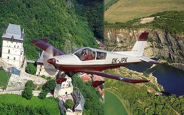 Vyhlídkový let nad hradem Karlštejn, lomy Amerika a Mexico!