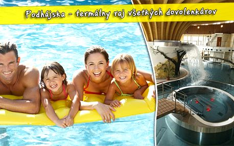 Užijte si pobyt v obci Podhájska jen za 234 Kč/noc. Otestujte příznivé účinky termální vody na vlastní kůži - léčivé vlastnosti Mrtvého moře.