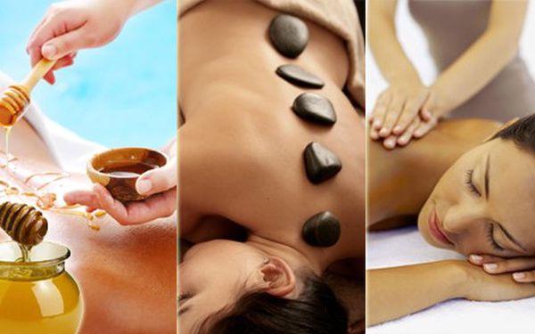 Medová masáž, masáž lávovými kameny či klasická v celkové délce 60 minut! Dle výběru! Poznejte léčivé účinky medové masáže či masáže lávovými kameny, zbavte se stresu, kterým prochází již každý z nás nebo využijte klasické masáže k příjemnému odreagování. Výběr masáže závisí pouze na Vás!