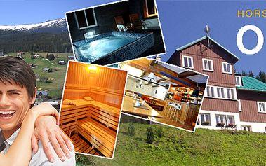 Pobyt pro dva na tři dny v horské chatě Orlík s jedinečným výhledem včetně privá