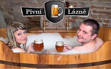 Pivní lázně bohaté na vitamíny pro dva v soukromí a k tomu litrový nápoj!