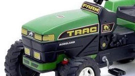 Šlapací TRAKTŮREK FARM s valníkem v zelené barvě pro vaše ratolesti! Pevná a bezpečná konstrukce, precizní provedení, perfektní vzhled