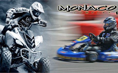 Adrenalinové odpoledne v MONACO COMPLEX! WRC Simulátor, motokáry, čtyřkolky!