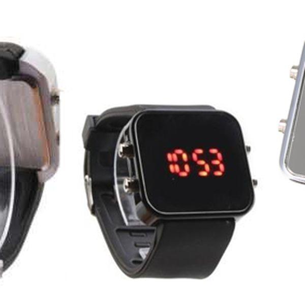 Zrcadlové LED hodinky v černé a červené barvě ohromí Vás i Vaše okolí!