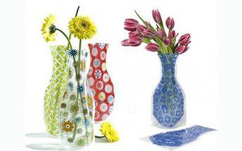 59 Kč za absolutní novinku na trhu, skládací vázu! Proč utrácet za drahé skleněné vázy, když my Vám nabízíme jedinečné designové vázy, které jsou praktické, nerozbitné a hodí se do každého prostoru.