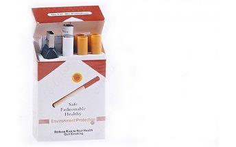 Klasická e-cigareta v cigaretové krabičce s příchu