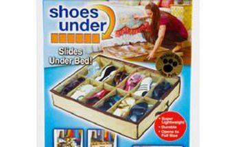 Organizátor na boty – ÚLOŽNÝ BOTNÍK pod postel s 12 přihrádkami a uzavíráním na zip JEN za 99 Kč!
