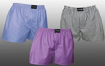 3 bavlněné trenýrky s poštovným! Užijte si vysoké pohodlí trenýrek. Různé vzory i barvy!