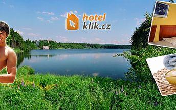 3 - denní pobyt s plnou penzí pro dva u rekreačního rybníku Medlov!