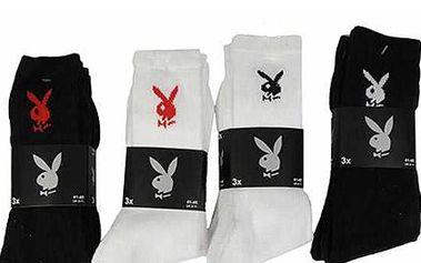 Značkové pánské ponožky Playboy! Jen 114 Kč za 3 páry kvalitních ponožek v různých barvách!