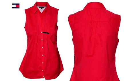 Halenka Tommy Hilfiger! Buďte styloví se značkovou halenkou červeno-růžové barvy!