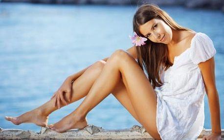 Depilace celých nohou přírodním voskem včetně ošetření gelem před depilací a zklidňujícím olejem po depilaci.