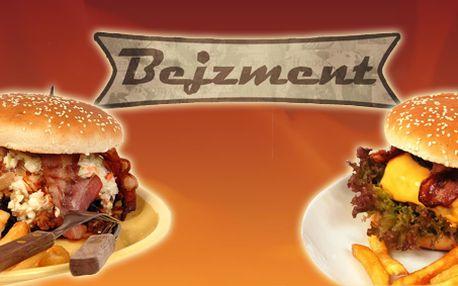 Výběr z 9ti druhů výborných burgerů! V každém 200g masa a k tomu výběr z příloh!
