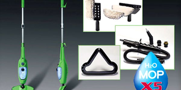 Praktický parní mop – čištění horkou parou bez chemikálií, 5 úklidových funkcí v jednom