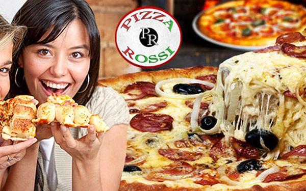 Dvě pizzy v pizzerii Rossi za poloviční cenu