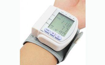 399 Kč za výborného pomocníka, automatický zápěstní digitální tlakoměr s LCD monitorem a pamětí na 60 údajů! Tlakoměr zobrazuje hodnotu systolického a diastolického krevního tlaku.