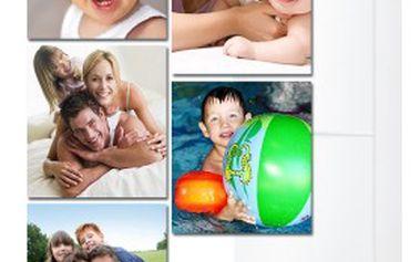 5 kusů FOTO-MAGNETEK 10 × 10 cm z vlastních fotografií! Věnujte každý pohled tomu, co máte nejraději