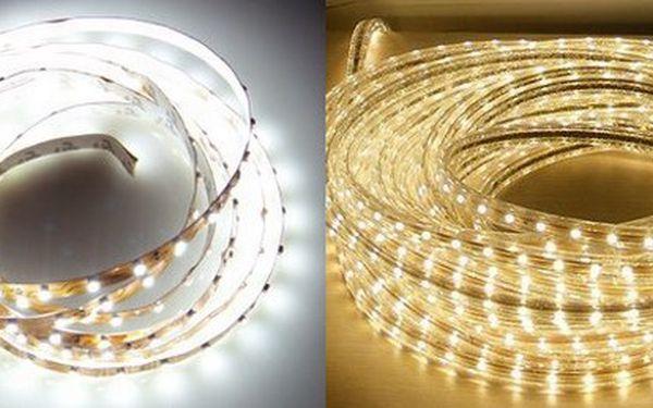 Skvělé LED pásky pro moderní osvětlení interiérů i exteriérů v 5ti atraktivních barvách!
