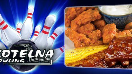 2 HODINY BOWLIGU, TALÍŘ PLNÝ MASA (pečená kuřecí křídla, stehýnka a uzená žebra) a zapůjčení bowlingové obuvi jen za 279 Kč!! Prožijte večer plný zábavy a dobrého jídla v Bowlingu Kotelna v Opavě!!