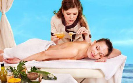 60minutová medová masáž! Dopřejte si medovou masáž a zábal pro zjemnění a odplavení toxinů!
