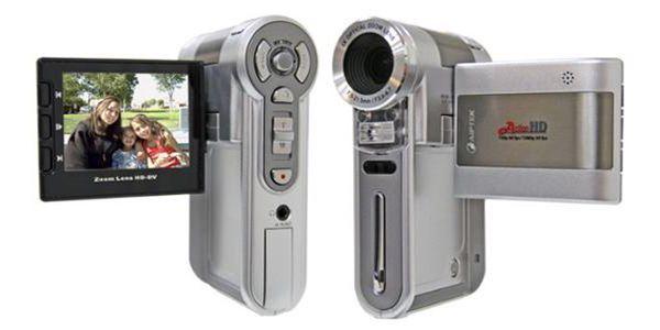 Lehký, stylový HD kamkodér! Gyroskopický stabilizátor obrazu a 60 fps záznam!