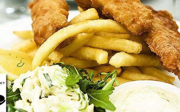 2x originál Fish & Chips v Rybárně v Praze jen za 99Kč! Pochutnejte si se slevou 50%!