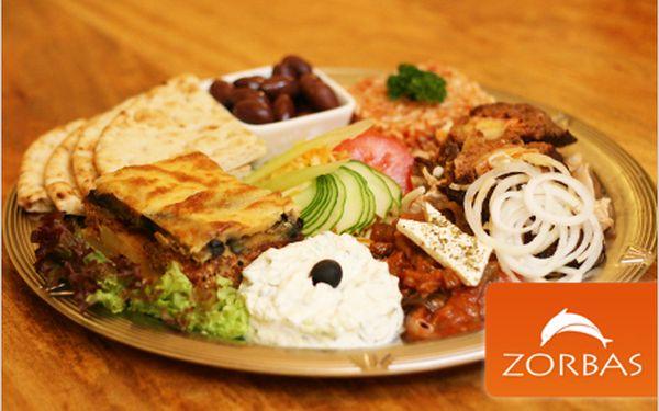 Vybrané pochoutky řecké gastronomie ve vyhlášené restauraci Zorbas!