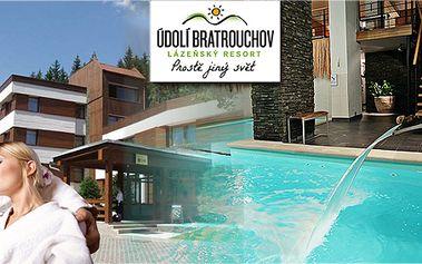 3 - denní nebo 5 - denní pobyt pro dva v lázeňském resortu Údolí Bratrouchov****