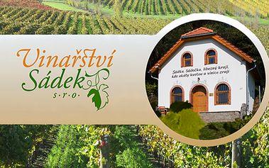 2 – denní nebo 3 – denní privátní vinařský pobyt až pro 6 osob s degustací!