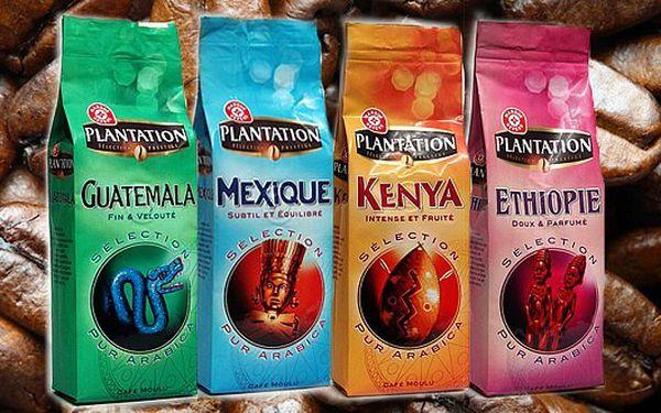 375 Kč za ČTYŘI balení mleté kávy ze 100% arabicy. Podlehněte lahodné chuti kávových zrn z úrodných plantáží Afriky a Střední Ameriky!