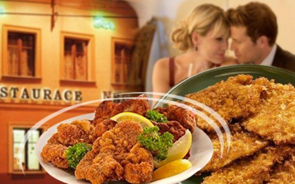 PŮL KILA LIBOVÝCH KUŘECÍCH A VEPŘOVÝCH ŘÍZEČKŮ pro dva! S 65% slevou jen za 149 Kč!! K tomu 2x Pardál 10°, chléb, okurky a hořčice!! Navštivte Restauraci Neptun!
