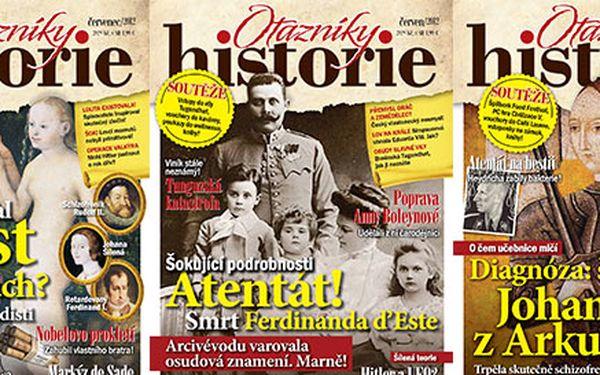 Roční předplatné časopisu Otazníky historie